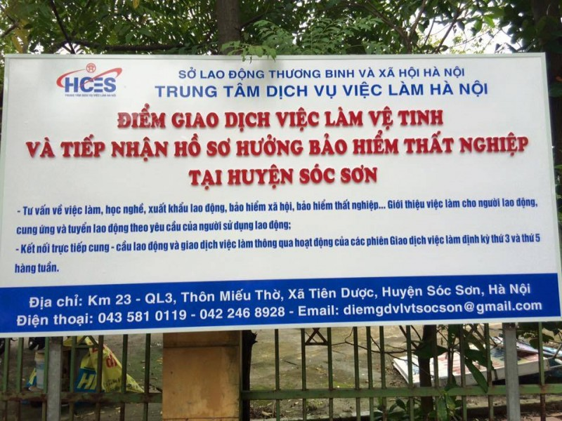Phiên giao dịch việc làm cho lao động BHTN tại huyện Sóc Sơn