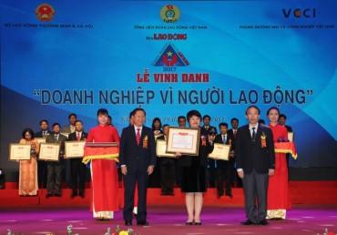 BIDV nhận giải thưởng 'Doanh nghiệp vì người lao động' năm 2017