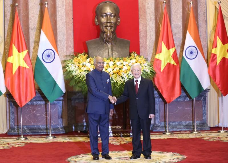 Tổng Bí thư, Chủ tịch nước Nguyễn Phú Trọng hội đàm với Tổng thống Ấn Độ