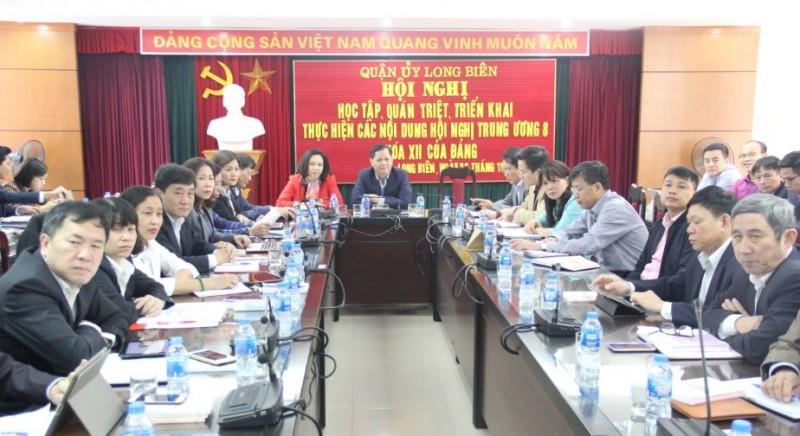 Quận Long Biên: Học tập, quán triệt Hội nghị Trung ương 8 khóa XII