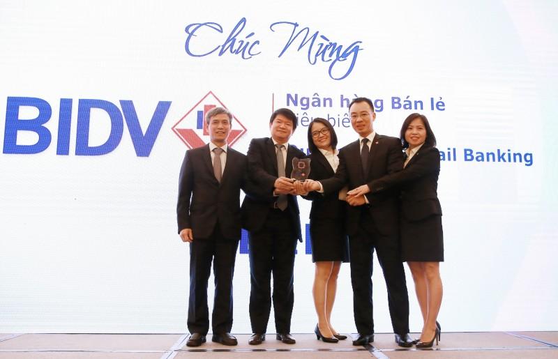 BIDV đạt giải 'Ngân hàng bán lẻ tiêu biểu' 3 năm liên tiếp