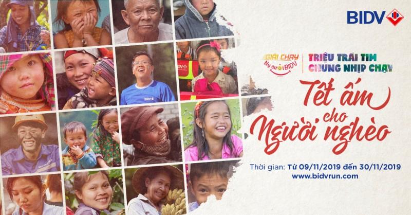 """Khởi động Giải chạy """"Nụ cười BIDV - Tết ấm cho người nghèo 2020"""""""