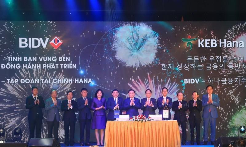 KEB Hana Bank chính thức trở thành cổ đông chiến lược nước ngoài của BIDV