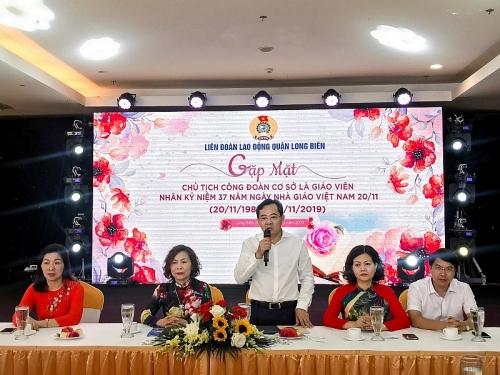Quận Long Biên: Gặp mặt thân mật Chủ tịch Công đoàn cơ sở là giáo viên