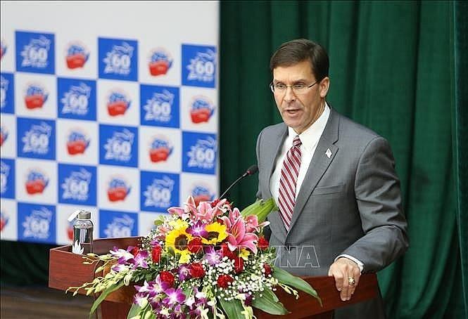Bộ trưởng Quốc phòng Mỹ giao lưu tại Học viện Ngoại giao