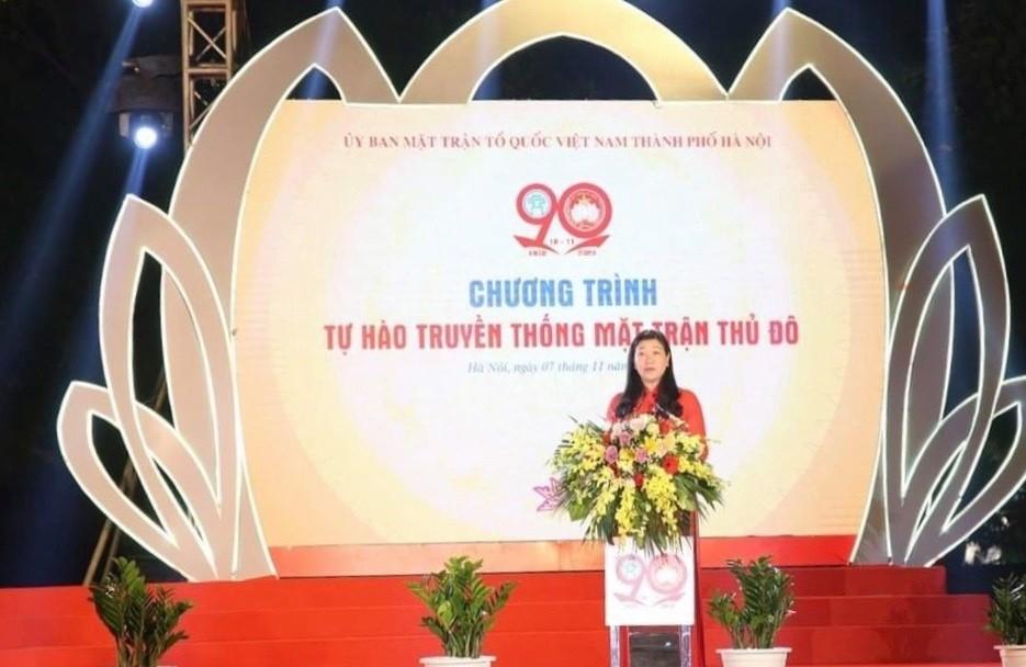 Hà Nội trang trọng kỷ niệm 90 năm Ngày truyền thống Mặt trận Tổ quốc Việt Nam