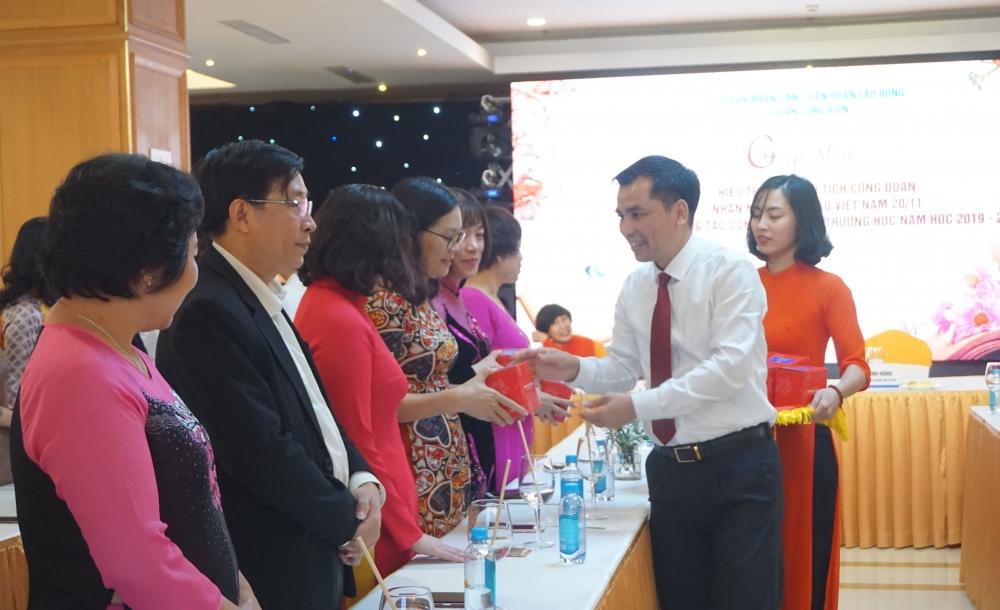 Đầm ấm lễ gặp mặt Hiệu trưởng, Chủ tịch Công đoàn các trường trên địa bàn quận Long Biên