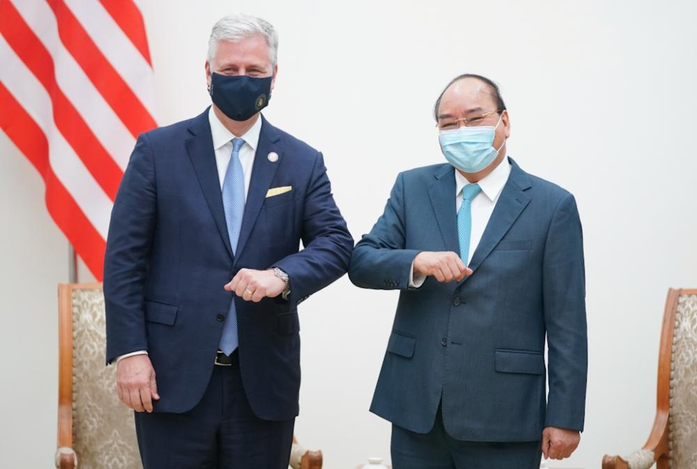 Thủ tướng Chính phủ Nguyễn Xuân Phúc tiếp Cố vấn An ninh quốc gia Hoa Kỳ Robert O'Brien