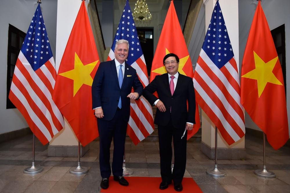 Phó Thủ tướng, Bộ trưởng Ngoại giao Phạm Bình Minh hội đàm với Cố vấn An ninh quốc gia Hoa Kỳ