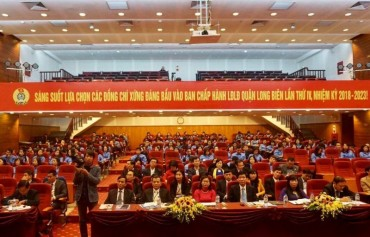 Khai mạc Đại hội Công đoàn quận Long Biên khóa IV