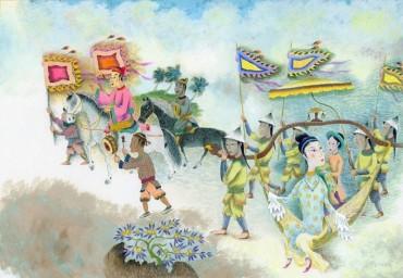Sôi nổi đấu giá tranh minh họa Truyện Kiều và Lục Vân Tiên