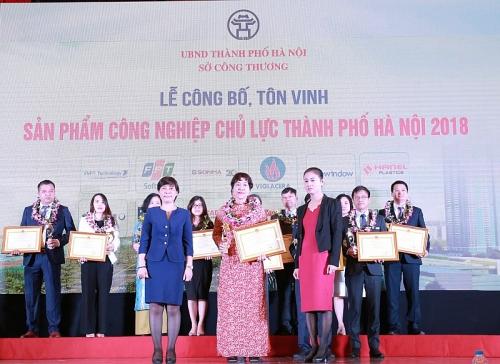Hà Nội: Tôn vinh 61 sản phẩm công nghiệp chủ lực năm 2018