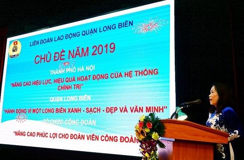 LĐLĐ quận Long Biên phát động thi đua trong đoàn viên, người lao động