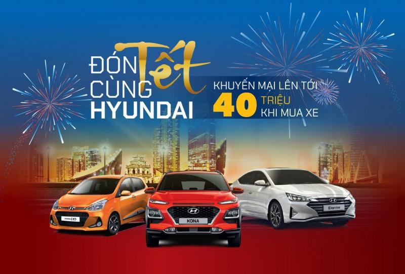 TC MOTOR khuyến mại lên đến 40 triệu đồng khi mua xe Hyundai