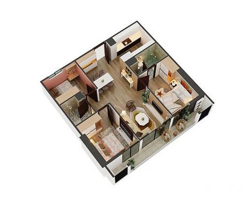 Nhu cầu căn hộ 3 phòng ngủ ngày càng gia tăng