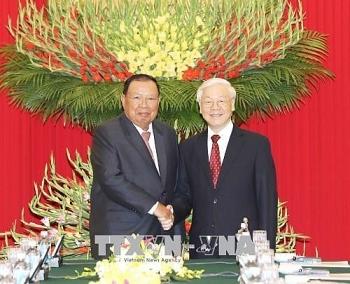 Lãnh đạo Đảng, Nhà nước Việt Nam gửi Điện mừng kỷ niệm 45 năm Quốc khánh nước CHDCND Lào