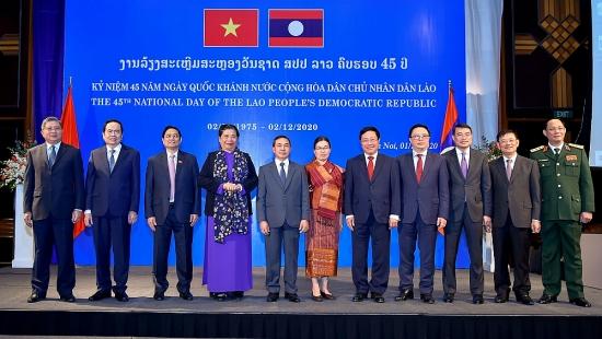 Lãnh đạo Đảng, Nhà nước dự tiệc chiêu đãi kỷ niệm lần thứ 45 Quốc khánh nước CHDCND Lào