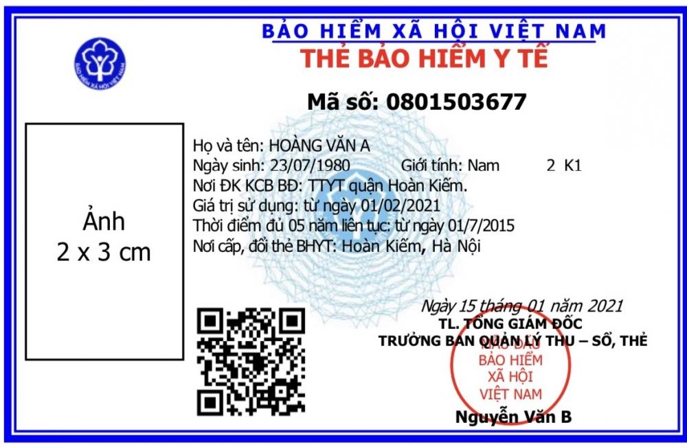 Bảo hiểm xã hội Việt Nam ban hành mẫu thẻ bảo hiểm y tế mới
