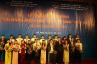 """276 sinh viên nhận giải thưởng """"Tài năng khoa học trẻ VN"""""""
