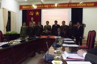 Bàn giao CĐ hai đơn vị về CĐ Công an nhân dân