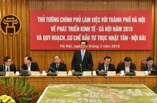 Thủ tướng làm việc với lãnh đạo TP. Hà Nội