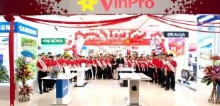 Hệ thống công nghệ - điện máy VinPro đồng loạt khai trương, tưng bừng khuyến mãi