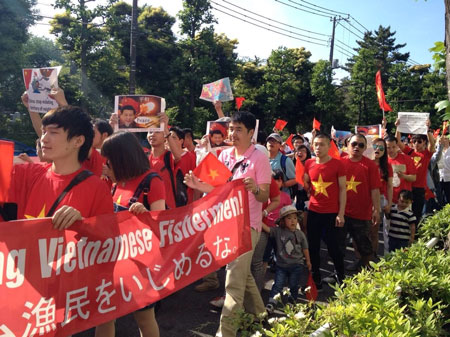 Tuần hành ở Tokyo phản đối giàn khoan Trung Quốc