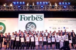 Vinamilk  được Forbes Việt Nam vinh danh