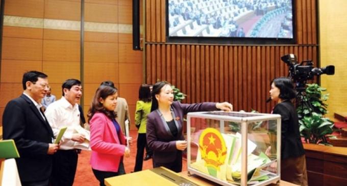 Quốc hội công bố kết quả lấy phiếu tín nhiệm 50 vị trí chủ chốt