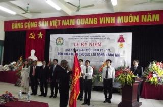 Trường Trung cấp công đoàn TP Hà Nội đón nhận Huân chương lao động hạng Nhì