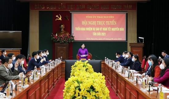 Thái Nguyên: Triển khai các nhiệm vụ phát triển kinh tế- xã hội và phòng, chống dịch Covid-19