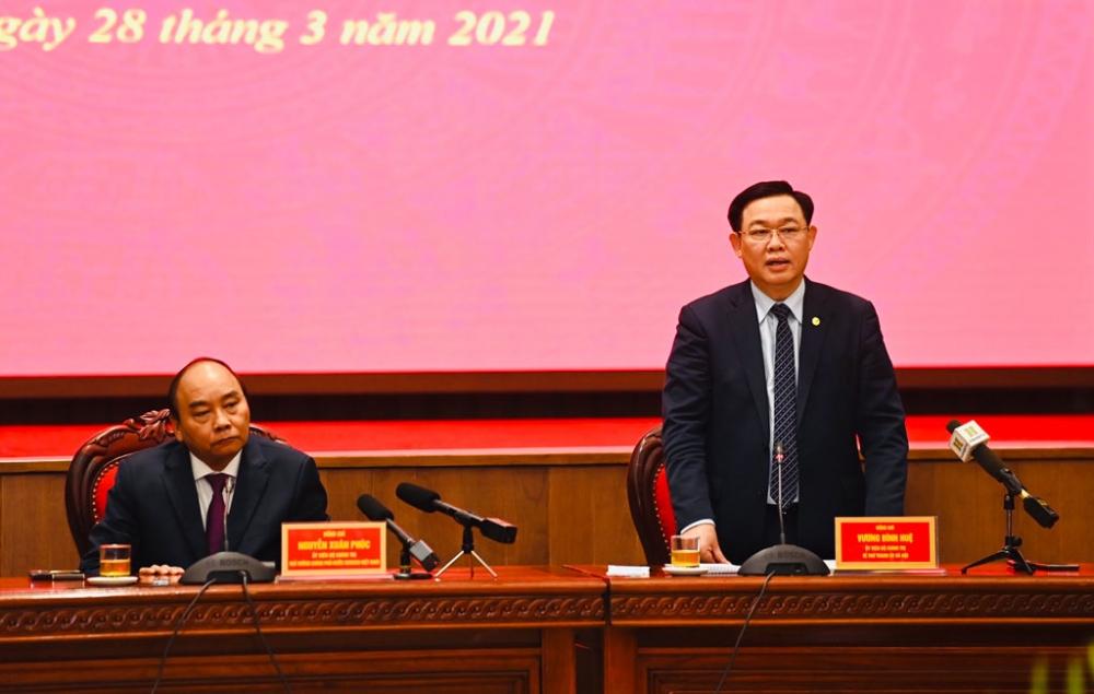 """Thủ tướng Nguyễn Xuân Phúc: Để Hà Nội xứng đáng là """"trái tim của cả nước"""""""