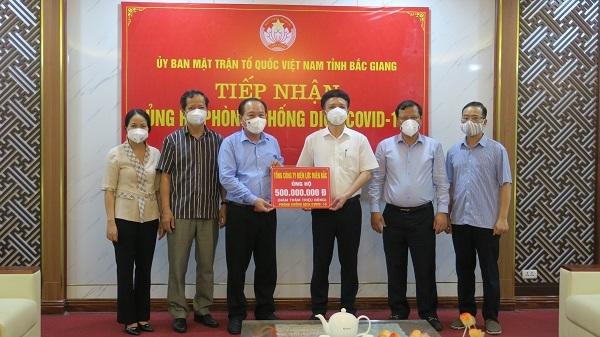 EVNNPC ủng hộ 1 tỷ đổng chung tay cùng Bắc Giang, Bắc Ninh phòng, chống dịch Covid - 19