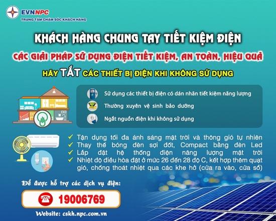 Tiêu thụ điện tăng kỷ lục, cần tiết kiệm ở mức tối đa