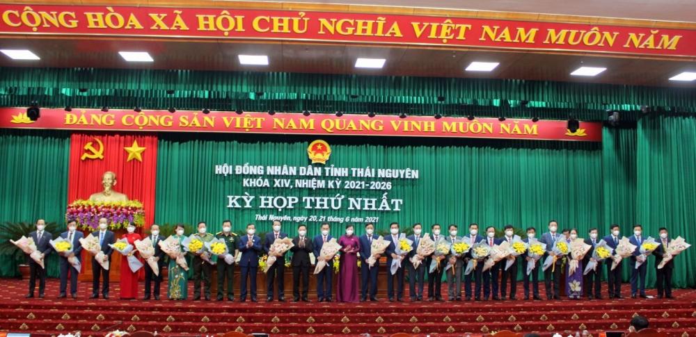 Thái Nguyên: Chủ tịch Hội đồng nhân dân và Chủ tịch Ủy ban nhân dân trúng cử với số phiếu tuyệt đối