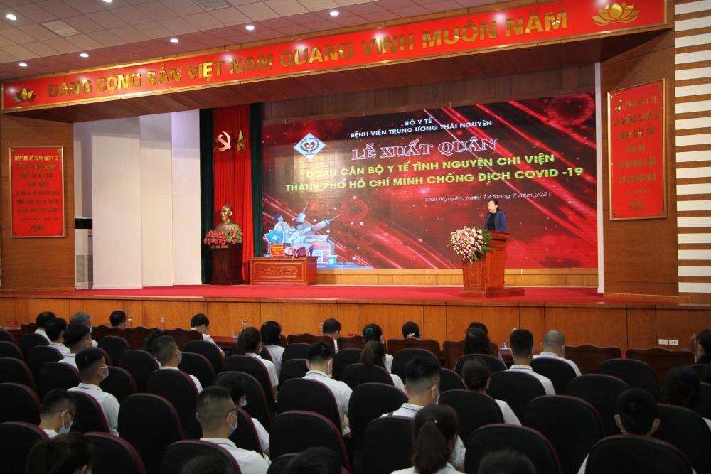 Thái Nguyên chi viện 79 y bác sĩ hỗ trợ thành phố Hồ Chí Minh chống dịch