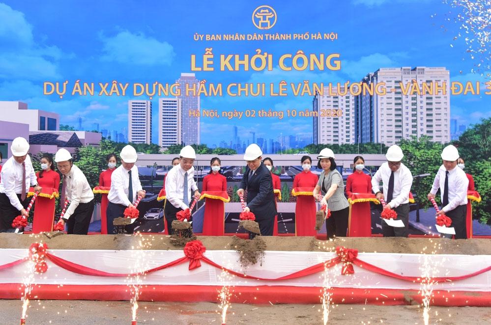 Hà Nội khởi công hầm chui Lê Văn Lương - Vành đai 3