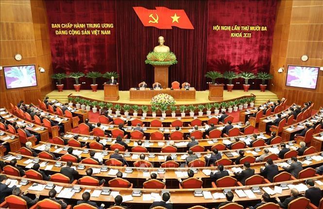 Khai mạc trọng thể Hội nghị lần thứ 13 Ban Chấp hành Trung ương Đảng khóa XII