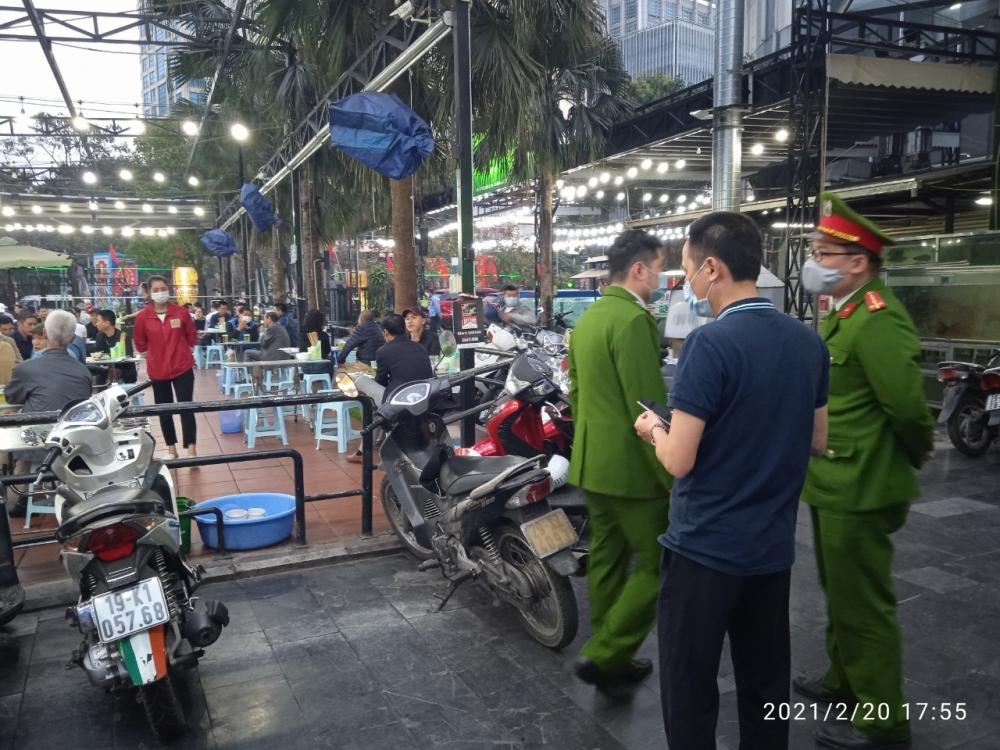 Xử phạt quán bia vi phạm quy định về phòng, chống dịch theo phản ánh của báo Lao động Thủ đô