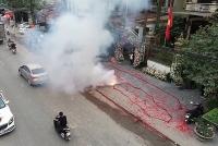 Vào cuộc điều tra vụ đốt pháo để ăn mừng đám cưới tại Sóc Sơn
