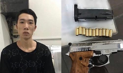 Phát hiện 3 thanh niên mang theo 1 khẩu súng cùng 11 viên đạn lúc rạng sáng