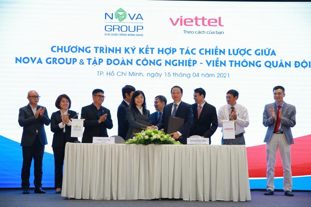 Viettel hợp tác thúc đẩy quá trình chuyển đổi số của Tân Cảng Sài Gòn và Tập đoàn Nova