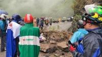 Hà Giang: Sạt lở đất đá ở đèo Mã Pí Lèng, 2 người nhập viện