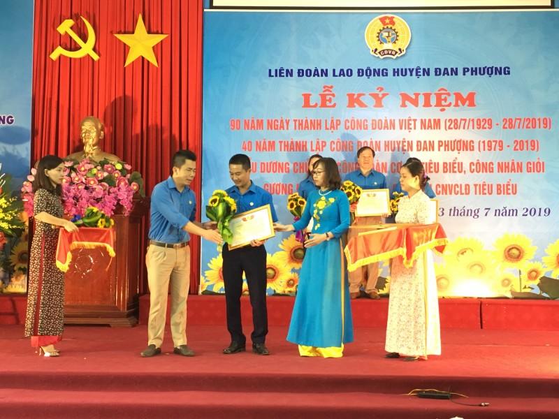 LĐLĐ huyện Đan Phượng: Kỷ niệm 90 năm Ngày thành lập Công đoàn Việt Nam