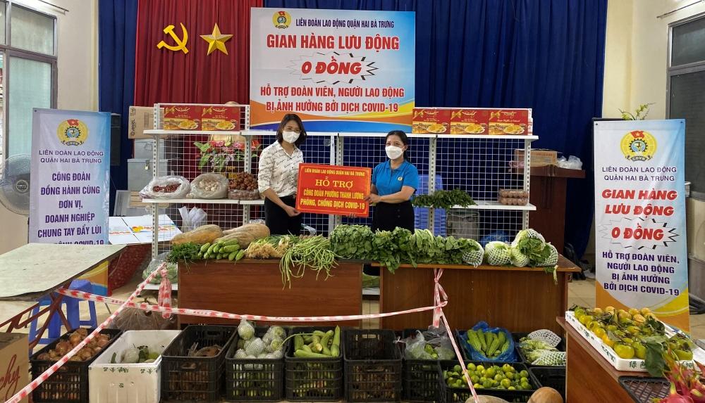 """LĐLĐ quận Hai Bà Trưng: Khai trương """"Siêu thị 0 đồng"""" hỗ trợ đoàn viên, người lao động có hoàn cảnh khó khăn"""
