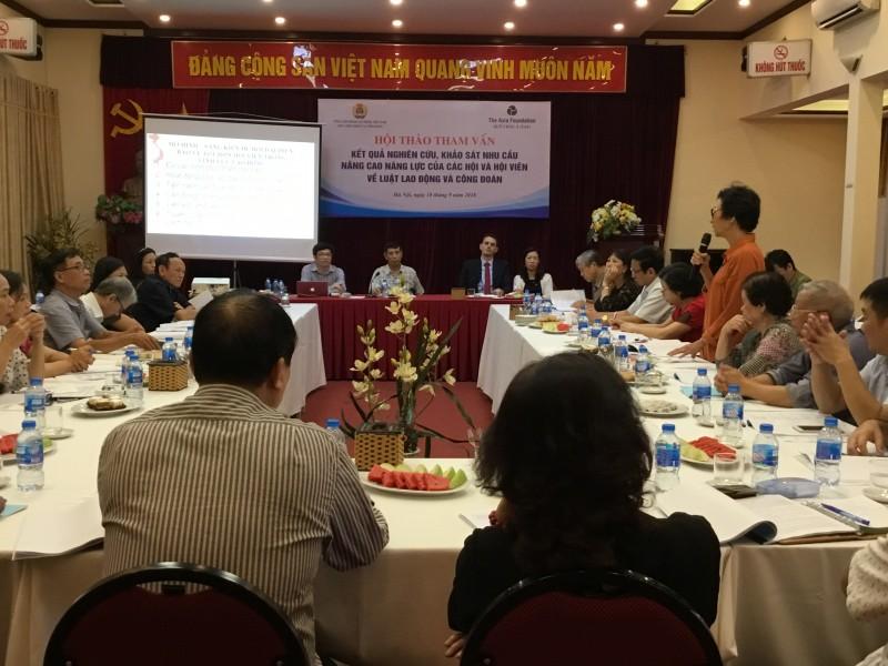 Nâng cao năng lực của các Hội và hội viên về luật lao động và công đoàn