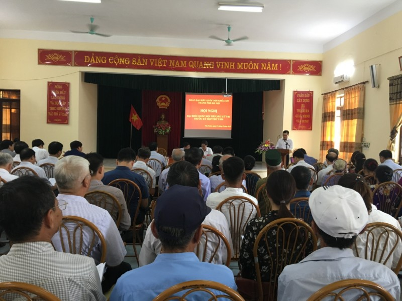 Đoàn Đại biểu Quốc hội thành phố Hà Nội tiếp xúc cử tri huyện Đan Phượng
