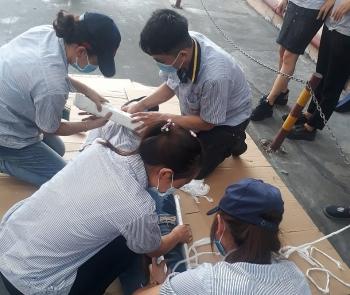 Công ty Chinlanshing Rubber Hà Tây tổ chức Hội thi An toàn vệ sinh viên giỏi năm 2020