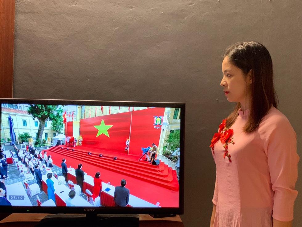 Những hình ảnh đẹp của học sinh Thủ đô trong Lễ Khai giảng đặc biệt