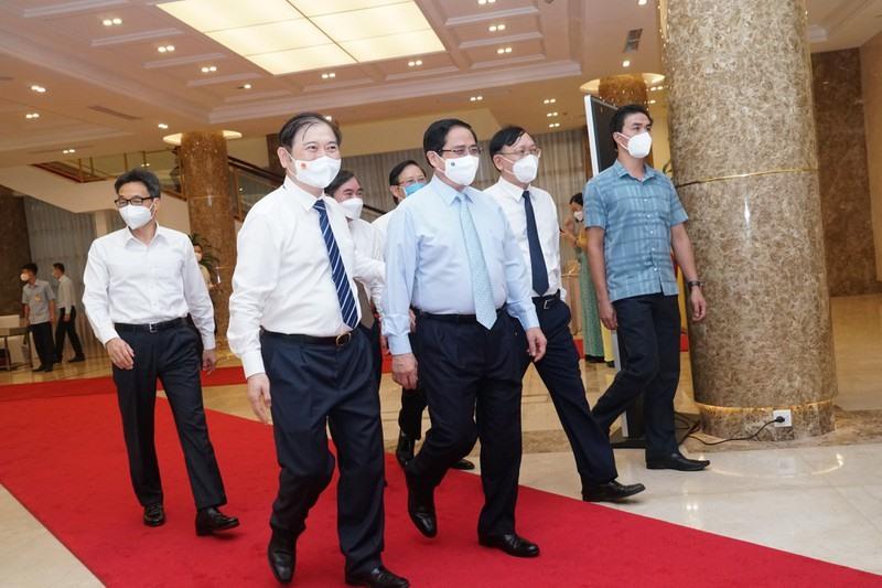 Thủ tướng Chính phủ Phạm Minh Chính đến dự Hội nghị.